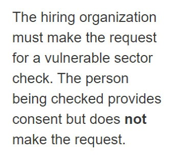 checks criminal record, candidate, police check, background check Canada