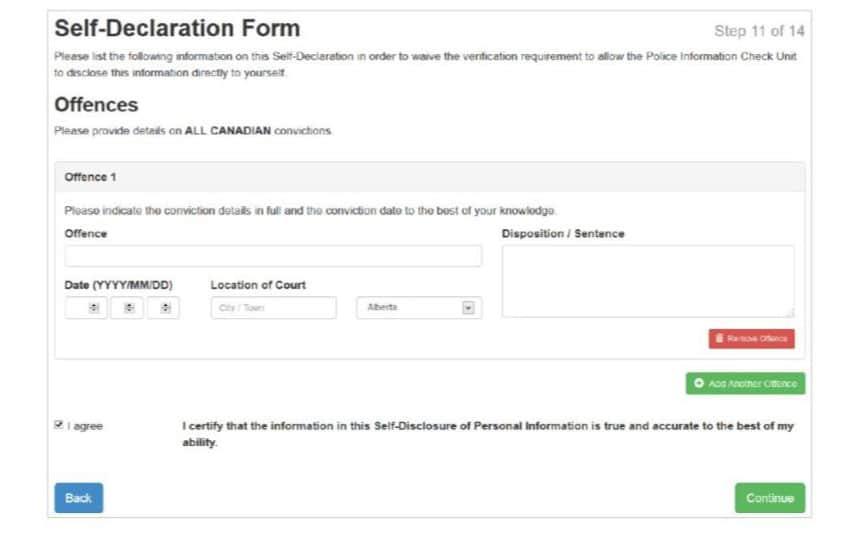 Self-Declaration Form